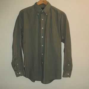 Brooks Brothers Men's Shirt L Olive Green Checked